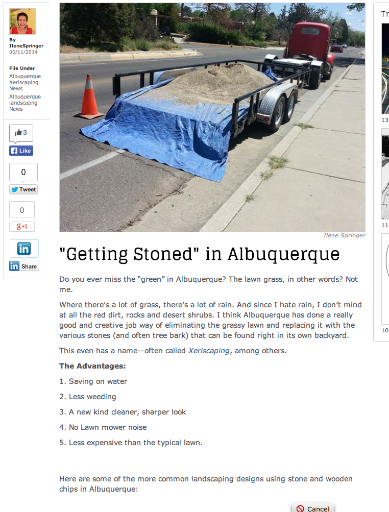 Getting Stoned  in Albuquerque