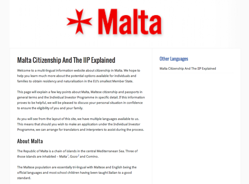 Malta Citizenship And The IIP Explained   Citizenship In Malta
