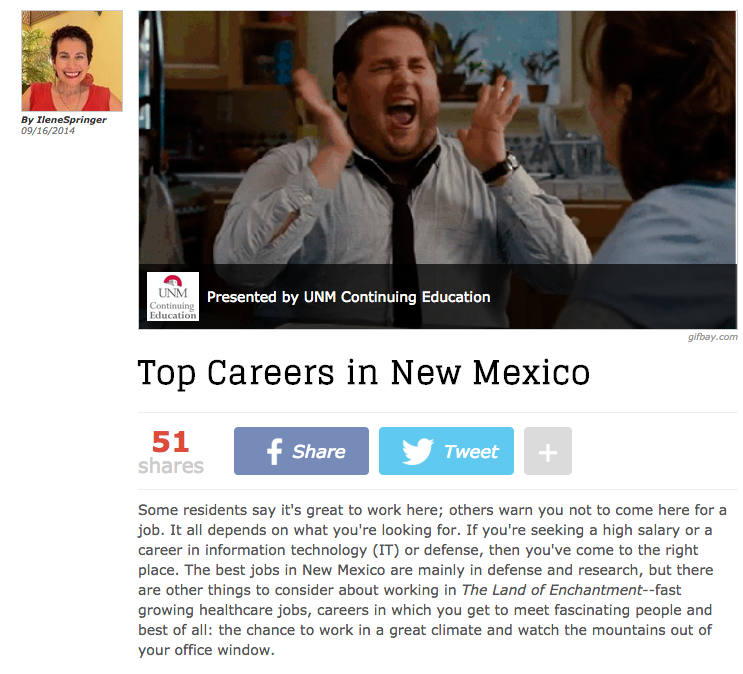 Top Careers in New Mexico