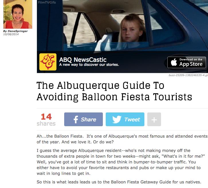 The Albuquerque Guide To Avoiding Balloon Fiesta Tourists