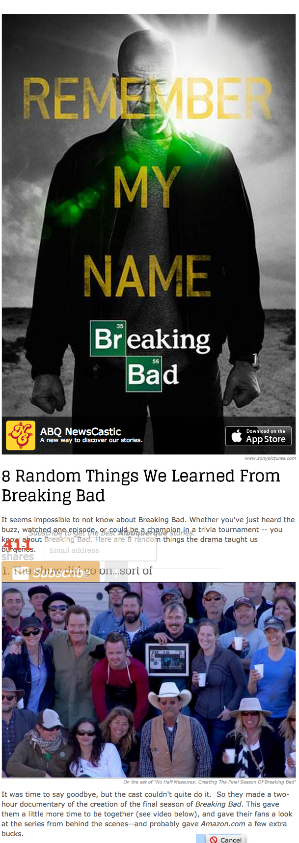 8 Random Things We Learned From Breaking Bad